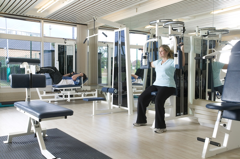 A Windsor member using the gym