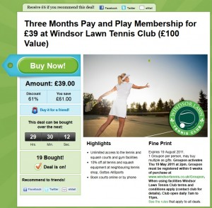 Windsor Groupon promotion, Belfast