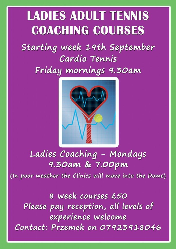Windsor Coaching courses for Ladies Tennis players