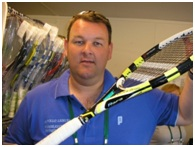 Roger Henry, Windsor Tennis Club Belfast stringer